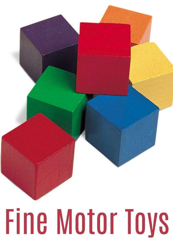 Wooden Cubes - Fine Motor Toys