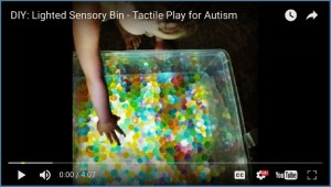 DIY Lighted Sensory Bin