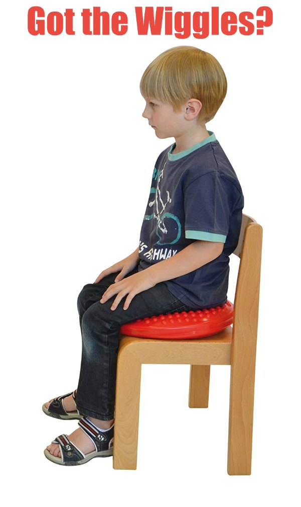 Got the Wiggles - A child who can't sit still in his seat? Gymnic Disc 'o' Sit Jr. Cushion (Proprioception)