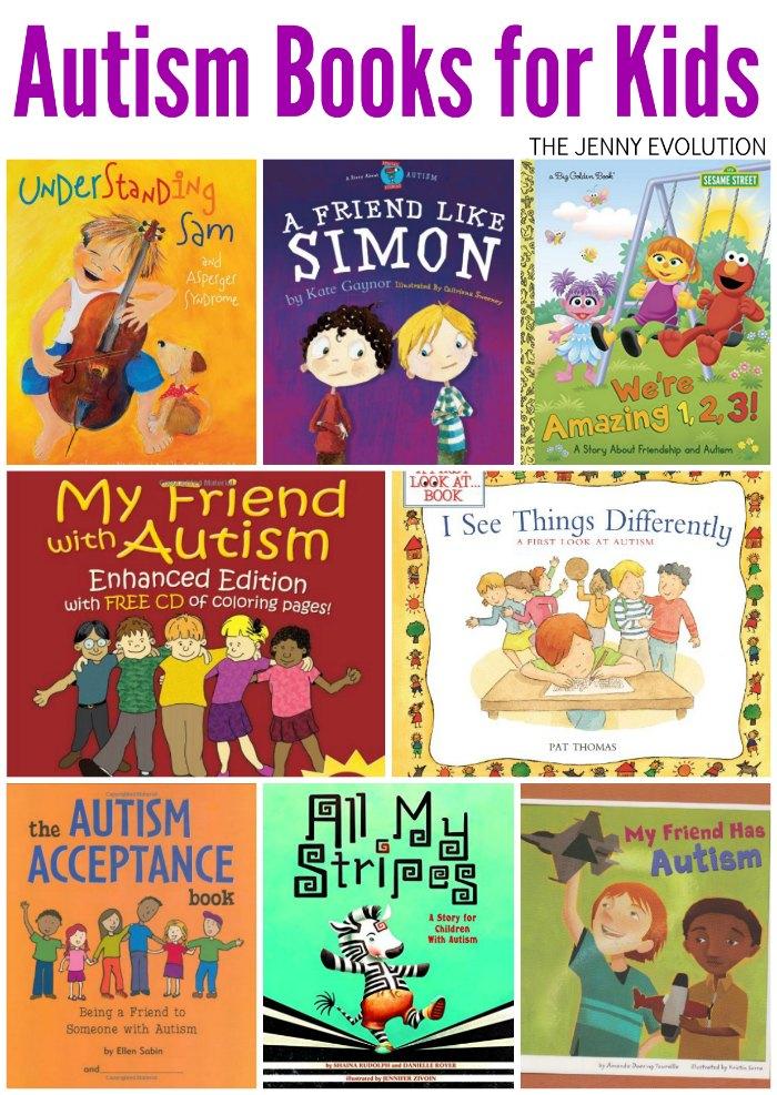 autism books children sensory evolution autistic kid jenny asd toddler child literature siblings parenting childrens special spectrum chapter parents social
