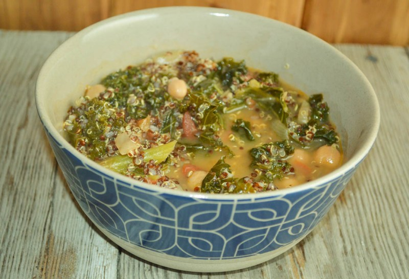 This Cold-Fighting Kale Soup is great for preventing colds or bouncing back from one - and it tastes great too. Kale is high in vitamin C which is known to shorten the duration of a cold.