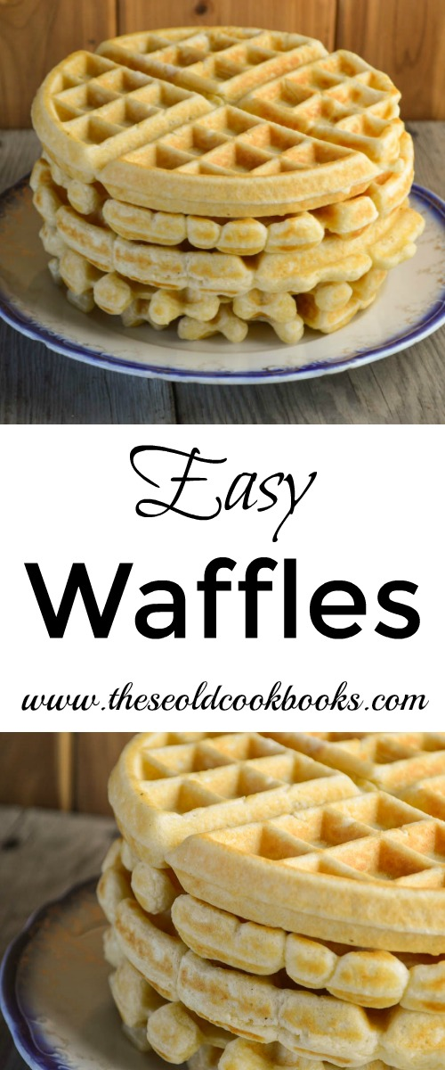 These Easy Waffles can be thrown together quickly when you are in need of a quick breakfast or dinner that makes your children happy.