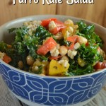 This Simple Mango Farro Kale Salad is flavorful and easy to make.