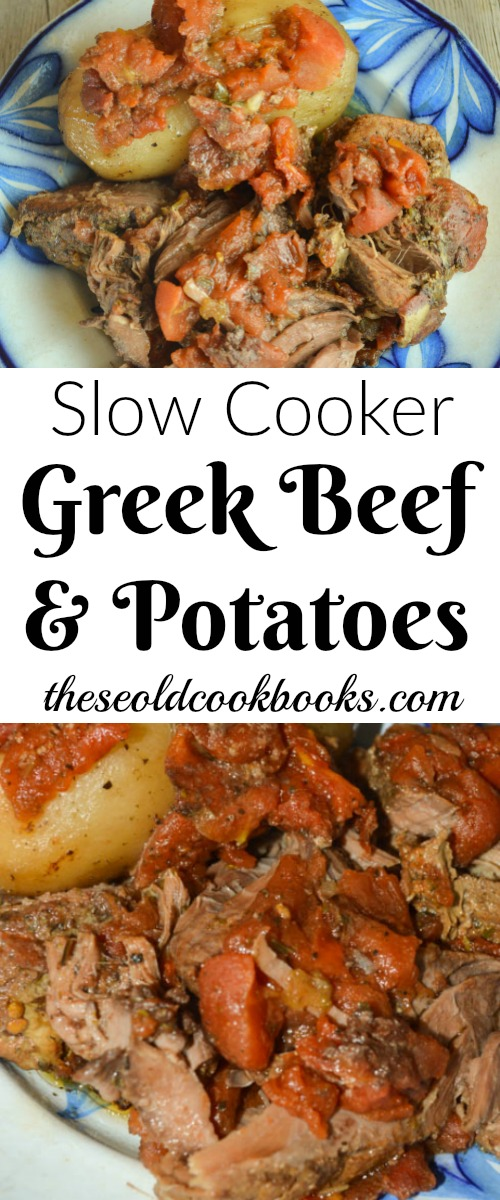 Kick up the flavor of a regular meat and potatoes dish by trying this Slow Cooker Greek Beef and Potatoes recipe with tomatoes and a Greek dressing mix.