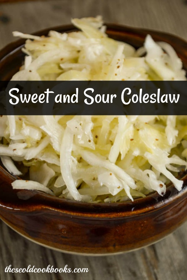 Sweet and Sour Coleslaw is a great variation to regular creamy-style coleslaw.