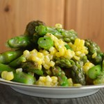 This Quick Asparagus Corn Salad is the perfect summer side dish with a homemade vinaigrette that you can customize to your preferred taste.