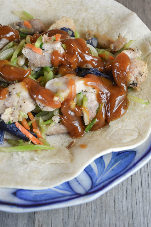 These Thai Chicken Wraps with a homemade peanut sauce and boneless chicken breasts are an easy weeknight dinner option that the entire family will love.