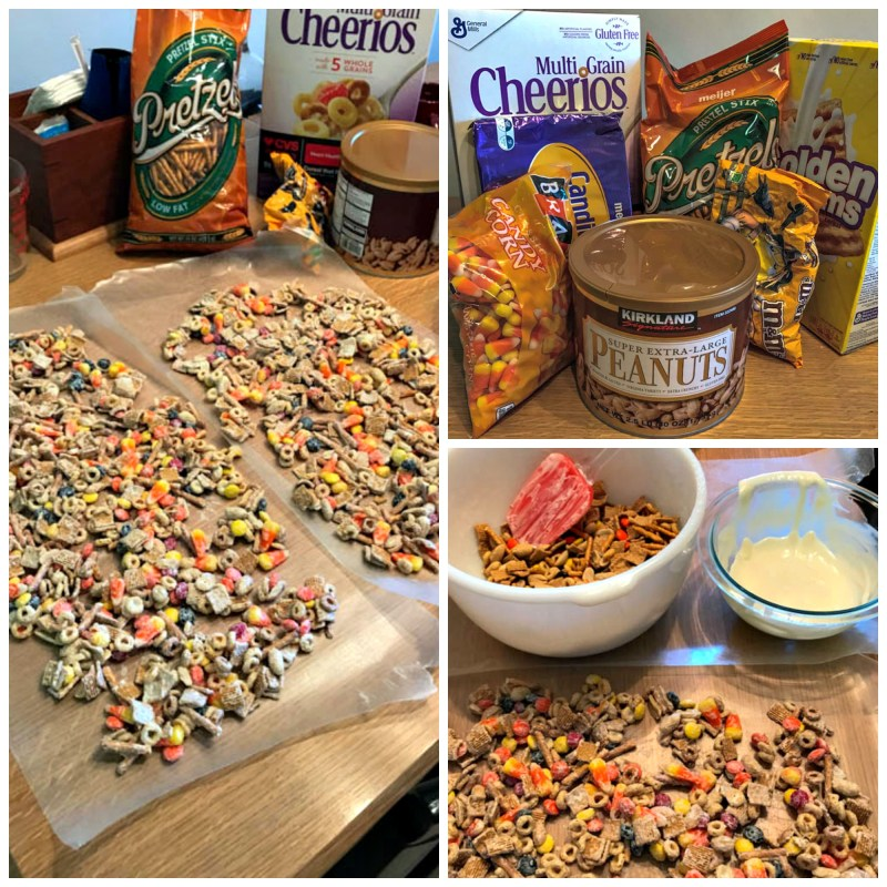 You will not be able to stop eating this White Chocolate Snack Mix with Candy Corn featuring graham cereal so share it with others as soon as you make it.