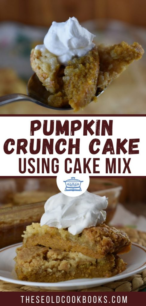 With a crisp topping and a dollop of whipped cream, this Pumpkin Crunch Dessert - made with a cake mix - is perfect for a crowd. Sometimes people call this Pumpkin Crunch Cake or Pumpkin Crunch Bars. We think it should be called the Best Ever Pumpkin Crunch Dessert of all time.