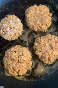 Easy Salmon Patties have the flavor of the classic salmon patty recipe without bread crumbs and without crackers, making them a low carb salmon patties recipe.