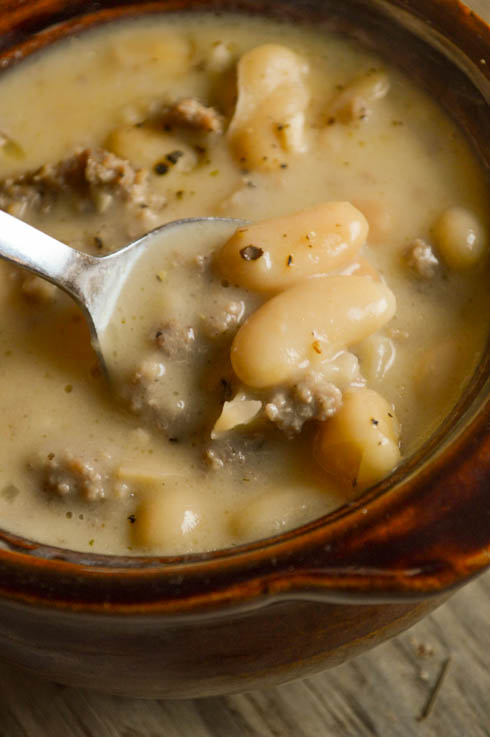 Tuscan Sausage and White Bean Soup is a hearty, flavorful dish perfect for dinner any night of the week. Add some crackers and enjoy!