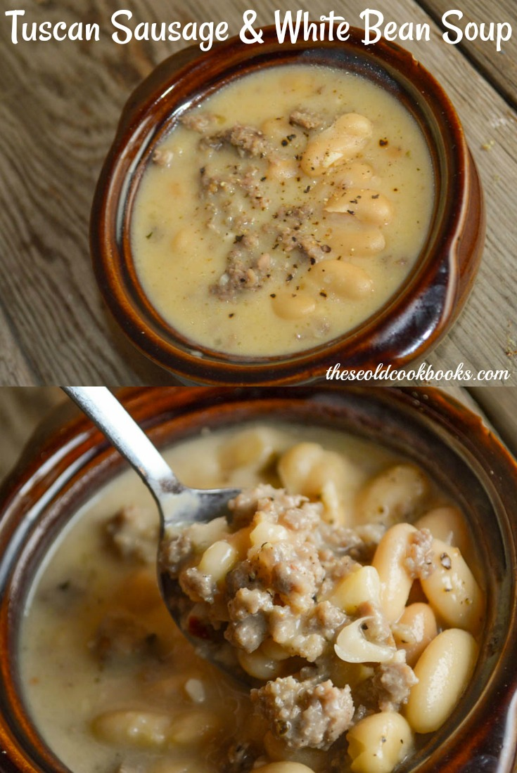 This Tuscan Sausage and White Bean Soup recipe is an easy meal to make and customize to your own tastes.