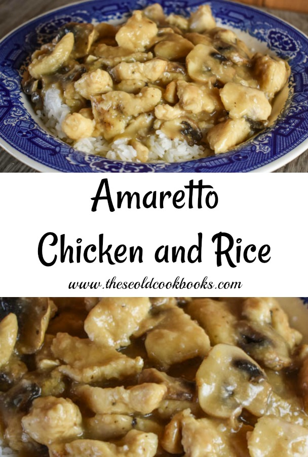 This Amaretto Chicken and Rice dish is ready in less than 20 minutes, perfect for a quick weeknight meal. With the juice of a fresh lemon and a splash (or two or three) of Amaretto, this recipe brings the flavor.