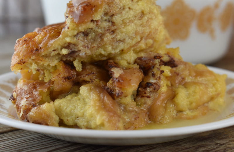 Don't let those uneaten glazed donuts go unused, instead turn them into this delicious Leftover Donut Bread Pudding. You can even freeze leftover donuts until you have enough to make this yummy dessert.
