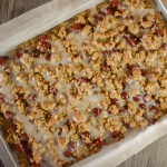 Glazed Oatmeal Cherry Bars are easy to make using cherry pie filling.