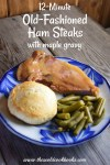 This Old-Fashioned Ham Steak is ready in 12 minutes and is simmered on the stove top in a delicious maple gravy. Ham steaks are an easy, quick weeknight meal as they are already fully cooked.