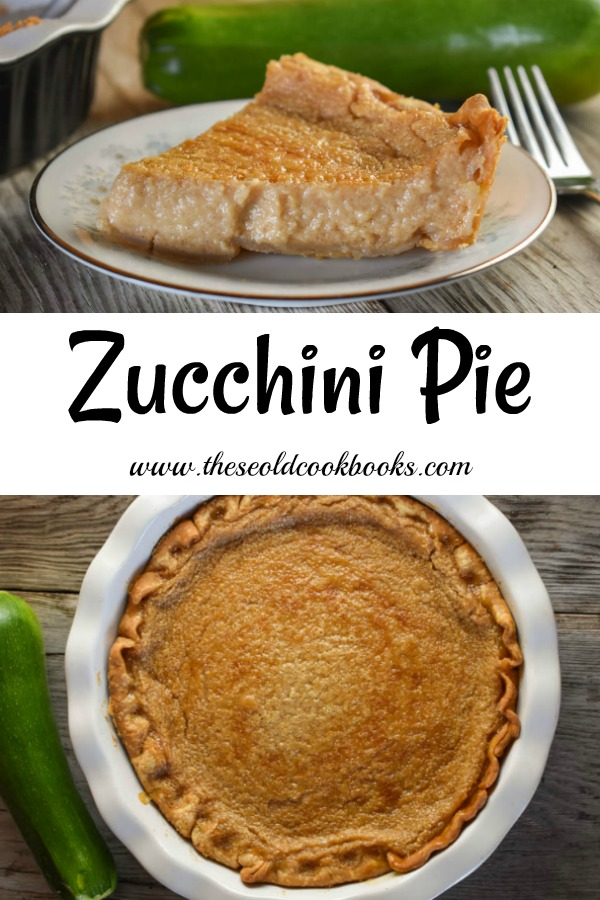 This classic Zucchini Pie reminds us of a sugar cream pie with a bit extra cinnamon. Prepared in a blender, this summertime cream pie doesn't disappoint.