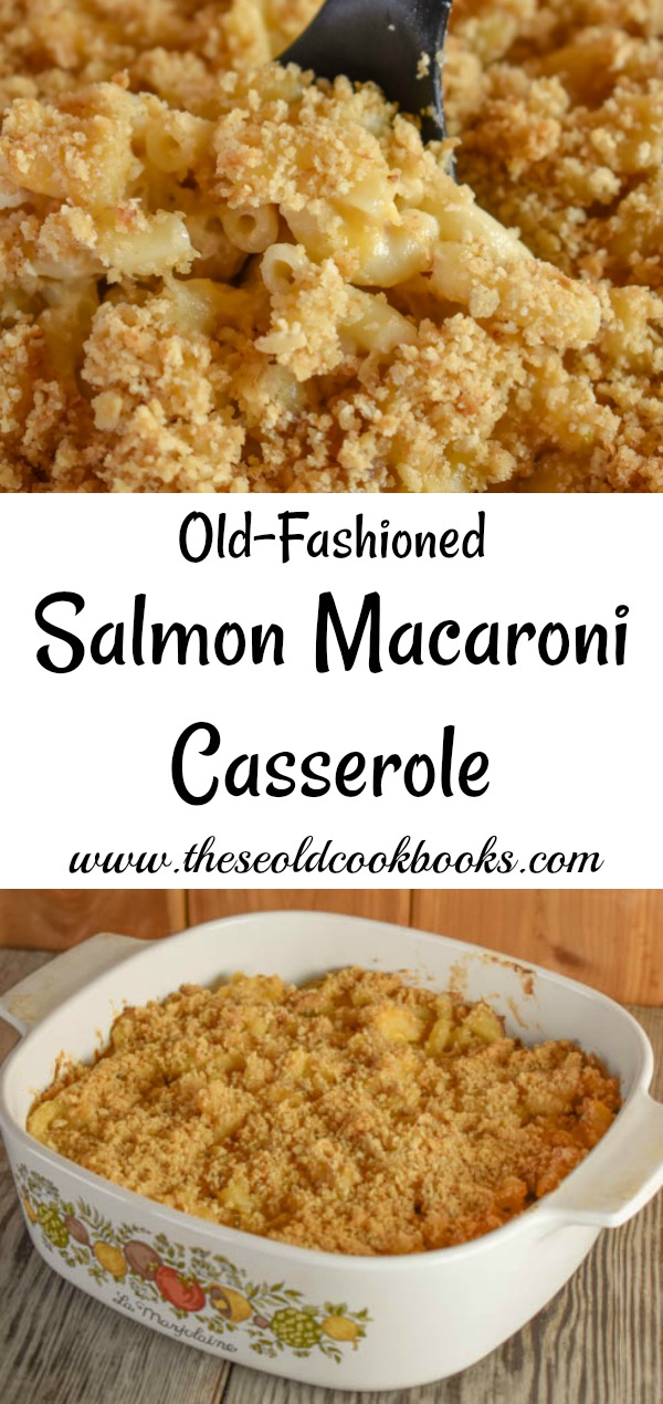 This Salmon Casserole uses macaroni and canned salmon and is quick and easy to put together for a weeknight dinner.