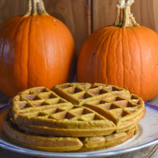 This simple pumpkin waffle batter can be made ahead and stored in the refrigerator overnight.
