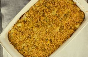 Grandma's Chicken and Rice Casserole is one of those dishes the entire family will eat. This casserole is a perfect way to take leftover chicken, rice - and even hard-boiled eggs - and turn them into a whole new dish.