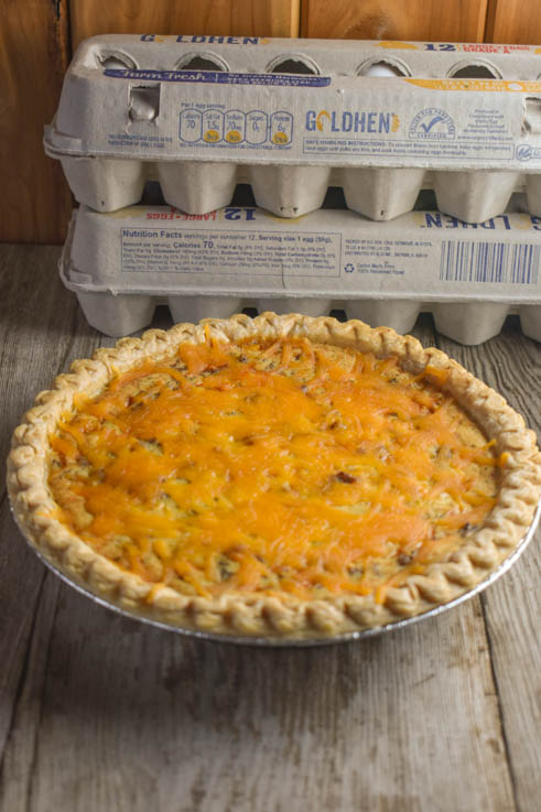 Pull out the eggs and ground beef for this Cheeseburger Quiche.