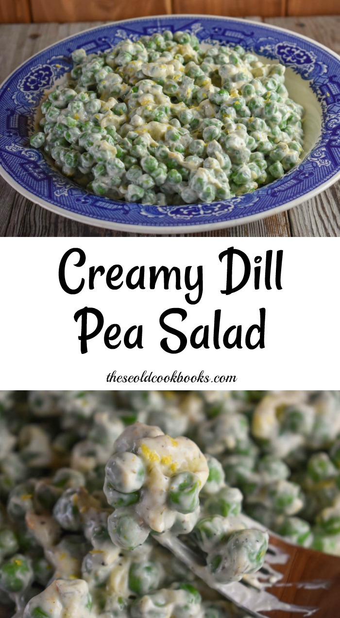 This Creamy Dill Pea Salad recipe is a refreshing side dish perfect for a pitch-in, summer picnic or just a regular family dinner.