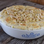 6-Ingredient Hot Crab Dip features canned crab meat, cream cheese and is topped with slivered almonds.