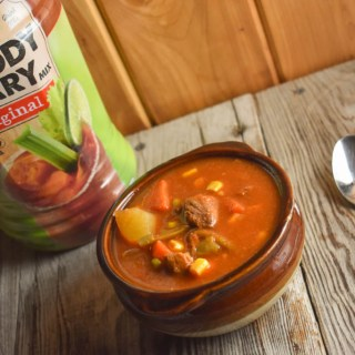 This Slow Cooker Bloody Mary Beef Vegetable Soup recipe is hearty and delicious to warm your belly on a cool winter night. It's one of the fix it and forget it recipes that will be ready to eat after a long day at work.