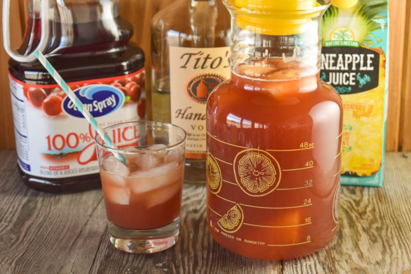 Looking for a new cocktail? Look no farther than a Bay Breeze. It's an easy cocktail consisting of three ingredients, cranberry juice, pineapple juice and Vodka. This drink will take you to the right to the beach.