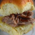 This is the easiest Oven Pulled Pork recipe ever!  The rub is made of only two ingredients---coarse salt and black pepper, and the outcome is a moist, fall off the bone pulled pork that can be eaten alone, or topped with barbecue sauce.