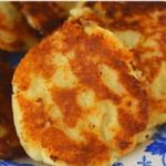Five ingredients is all it takes to make Granny's Leftover Mashed Potato Cakes. Using a base of your favorite leftover real mashed potatoes. you can easily make this economical side dish that the whole family will love.