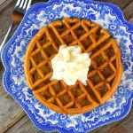 Who says that gingerbread is just for Christmas? Gingerbread Waffles have all your favorite gingerbread flavors---ground cinnamon, ginger, cloves and molasses, and can be served up all year long for a family-pleasing breakfast.