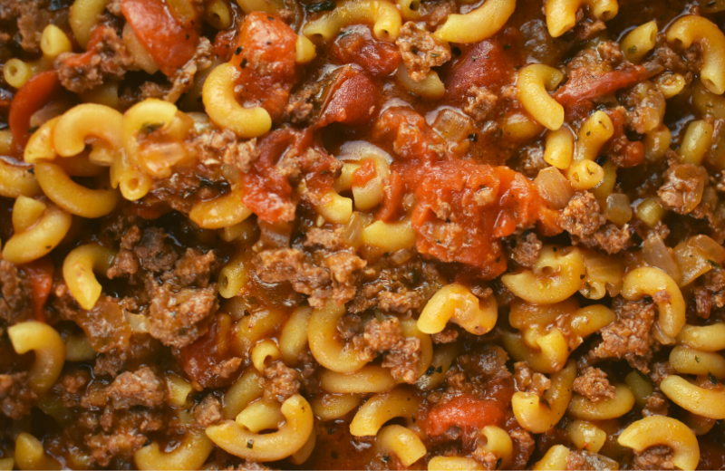 Ground Beef Goulash might be the easiest, family-pleasing meal of all time. The combination of ground beef, tomatoes, and elbow macaroni and a handful of other easy ingredients comes together to create the perfect marriage of flavors. Believe us when we say, this recipe is a keeper.