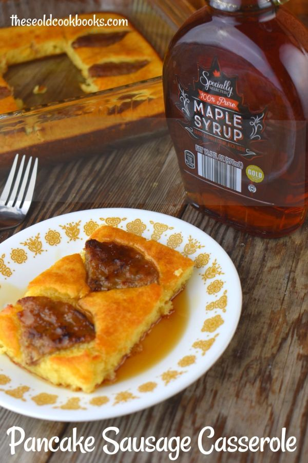 Easy Pancake Sausage Casserole (pancake mix casserole) uses five simple ingredients and will transform the way you prepare pancakes for your family.