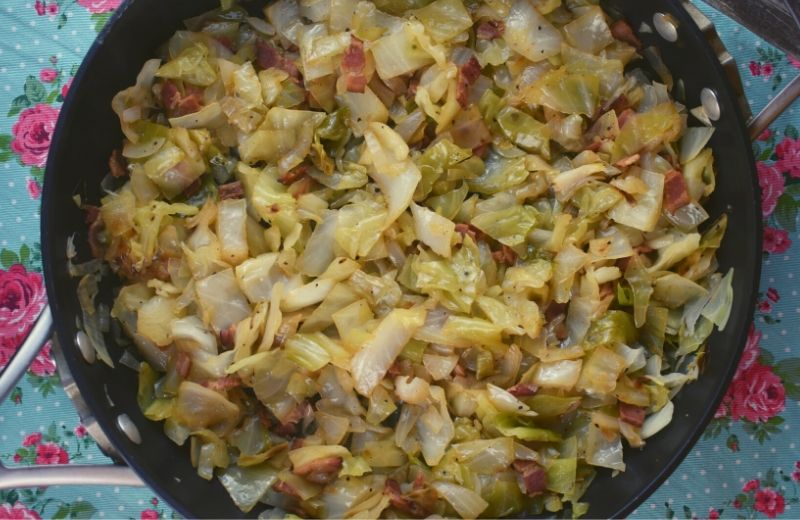 Bacon and Cabbage are the perfect combination, and Fried Cabbage with Bacon might be my favorite side dish. This fail-proof recipe tastes just like Mom's. Pair it with steak, chicken or pork, or maybe you'll just eat it all by itself. It's that good!