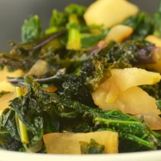 Looking to try kale but aren't sure how to prepare it? Try this deliciously easy Sauteed Kale with Apples.  With only a handful of ingredients, you'll have a new healthy side dish to add to your menu.