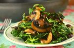 Sauteed Baby Kale and Mushrooms is packed with flavor and nutritious ingredients. Mushrooms sauteed in olive oil perfectly compliment wilted baby kale with a surprise addition of kidney beans for added protein. Serve this along side grilled chicken or make it meatless by eating it over a cooked sweet potato or quinoa.