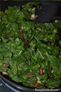 With a few simple ingredients, you can make this Simple Steamed Swiss Chard as tasty as it is beautiful. Garlic, onions, broth, olive oil, salt and pepper can quickly transform these greens into the perfect summer side dish.