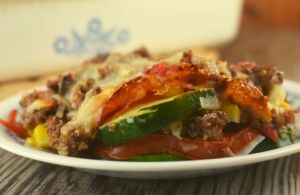Zucchini Tomato Casserole with Ground Beef is a simple summer garden vegetable bake that is light and fresh without a heavy sauce to weigh you down. Our version features zucchini, onion, corn and tomatoes, but yours can be individualized to your own personal taste.