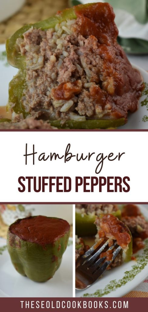 Old Fashioned Stuffed Bell Peppers is a simple stuffed pepper recipe with cooked rice and ground beef. With only five ingredients, including a simple sauce of tomato sauce, this basic recipe is anything but simple in flavor.