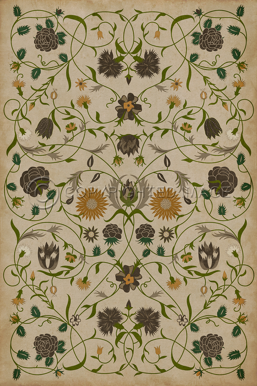 Williamsburg Floorcloth  Floral Martha  Alex Pifers The Seraph