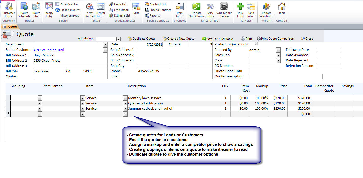 QuickBooks Compatible Drain Cleaning & Repair Software
