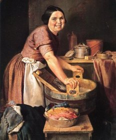 The Jolly Washerwoman; Lilly Martin Spencer