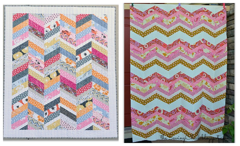 The Sewing Chick Herringbone Quilt Tutorial
