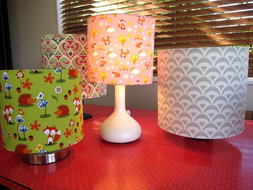 A selection of lampshades