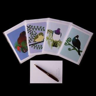 #NZNative birds greeting card series