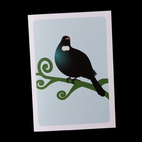 A6 tui greeting card