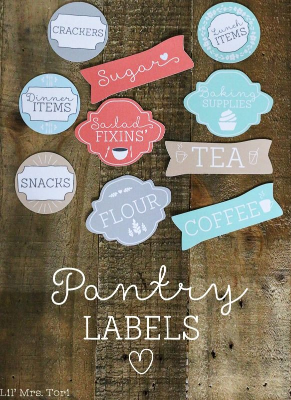 Free Pantry Labels  The Shabby Creek Cottage