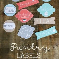 Kitchen Pantry Ideas Memphis Cabinets Free Labels - The Shabby Creek Cottage