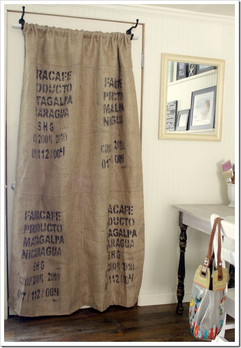 How To Make A Coffee Sack Curtain